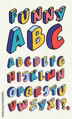 """Ecriture Stylée Alphabet isometric design style alphabet. letter and 3d alphabet"""" fichier"""
