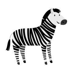 Cute zebra cartoon animal icon
