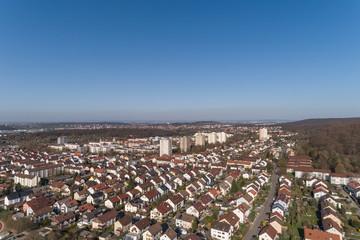 Luftaufnahme des Stuttgarter Stadtteils Giebel