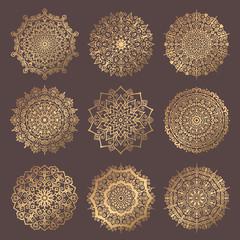 Mandala Vector Design Elements Collection