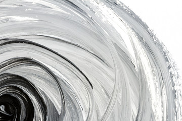 Abstract black and white hand painted background