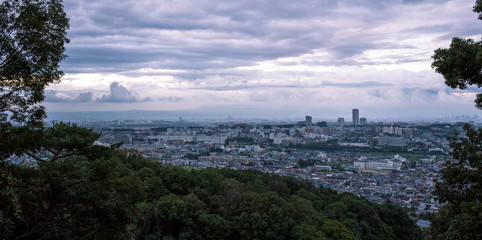Urban sprawl meets forest at the northernmost edge of Osaka City