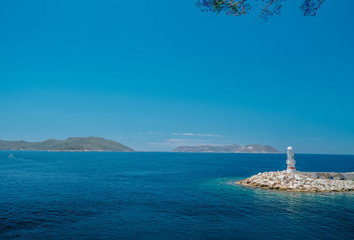 A beautiful seascape off the coast of the ancient city of Knidos