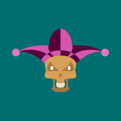 flat icon on theme humor scary jester
