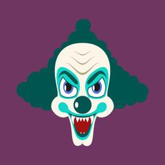 flat icons on theme funny clown vampire