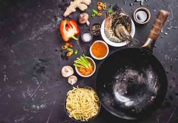 Asian food cooking concept