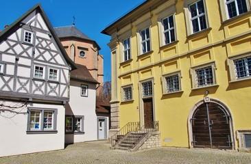 Eibelstadt, Unterfranken, Marktplatz mit Rathaus