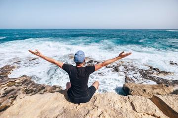 Man and sea