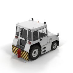 Push Back Tractor on white. 3D illustration