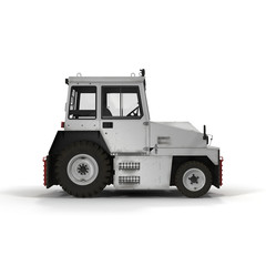 Push Back Tractor on white. 3D illustration
