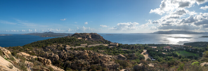 Hike to Capo d 'Orso in Sardinia, overlooking the island of Isola Caprera