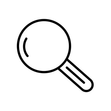 Magnifying glass icon isolated on white background