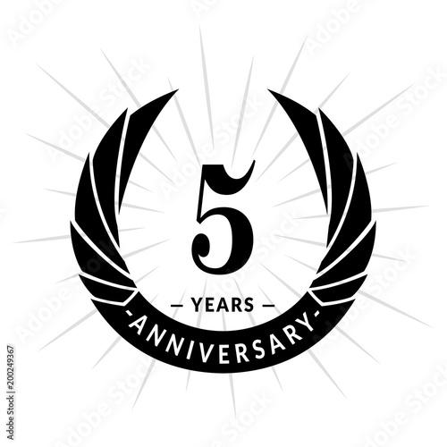 5 Years Anniversary Elegant Anniversary Design 5 Years Logo