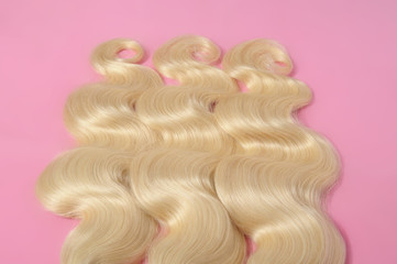 Body wave bleached blonde human hair weaves extensions bundles