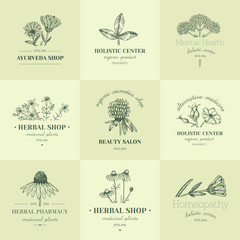 Herbal logos.