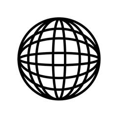 International globe icon isolated on white background