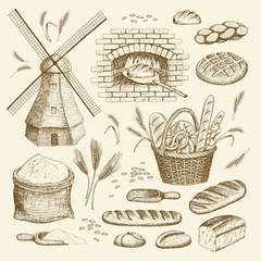 Bakery illustration.