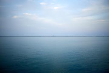 Calm blue surface of Lake Michigan