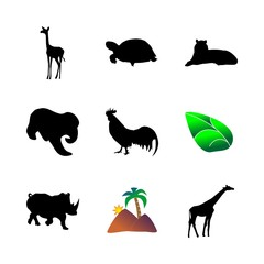 icon Animal with antelope, cute, savannah, large and trunk