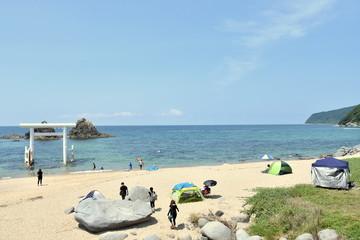 福岡の海 夏の糸島市二見ヶ浦