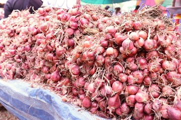 Shallots at the market