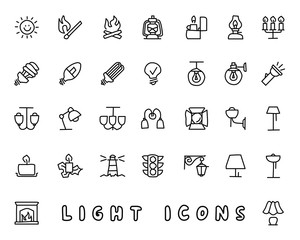 light hand drawn icon design illustration, line style icon, designed for app and web