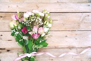 Blumenstrauß - Rosen - Nostalgisch