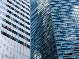 Abstract surface details of office buildings in NYC.