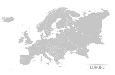 Grey Europe map Vector illustrations
