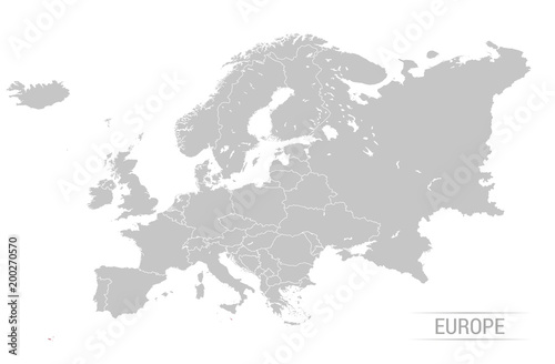 Grey europe map vector illustrations stock image and royalty free grey europe map vector illustrations gumiabroncs Gallery