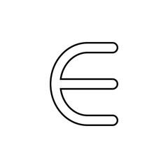 euro sign icon. Thin line  icon for website design and development, app development. Premium icon