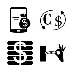 icon Currency with telephone, bank, forex, telephone payment and exchange