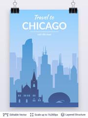 Chicago famous city scape.