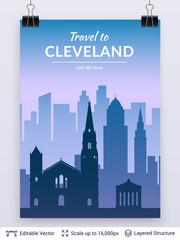 Cleveland famous city scape.