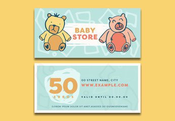 Baby Store Gift Voucher Layout