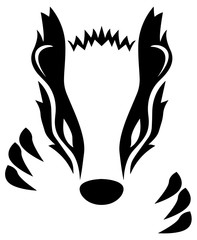 Badger Isolated Vector Illustration