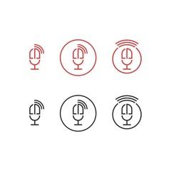 microfone initials dm logo icon