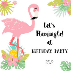 Flamingo birthday party invitation!