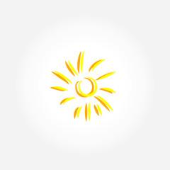 sun icon line illustration