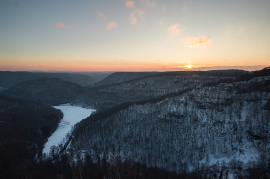 Sonnenaufgang auf der Schwäbischen Alb