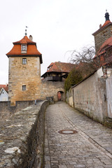 Cobblestone pathway in Rothenburg, Germany