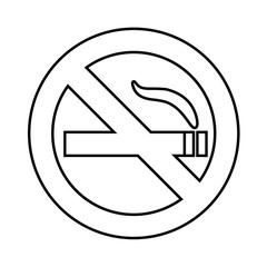 No smoke area line icon, outline vector sign, linear pictogram isolated on white. Symbol, logo illustration EPS
