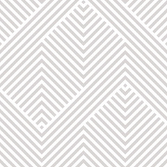Vector geometric seamless pattern. White and gray texture with lines, stripes