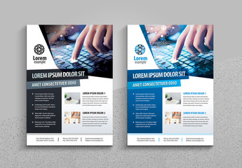 Flyer Layout with Geometric Accents