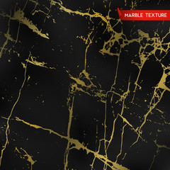 Black marble textures with gold