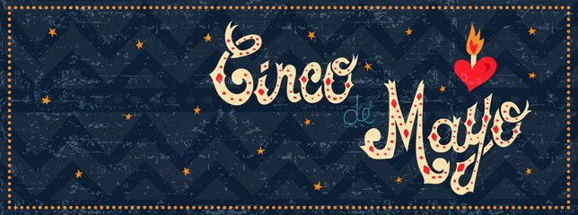 Cinco de mayo mexican party web banner quote