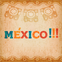 Happy mexico greeting card for mexican holiday