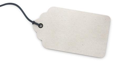 Anhänge-Etikett - rechteckig - wellig - weiß