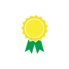 award icon yellow and green circle