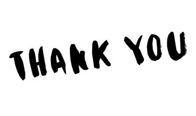 Ręcznie rysowane wektor napis frazy. Nowoczesna motywująca kaligrafia na ścianę, plakat, grafiki, karty, t-shirty i wiele innych, dziękuję kartce
